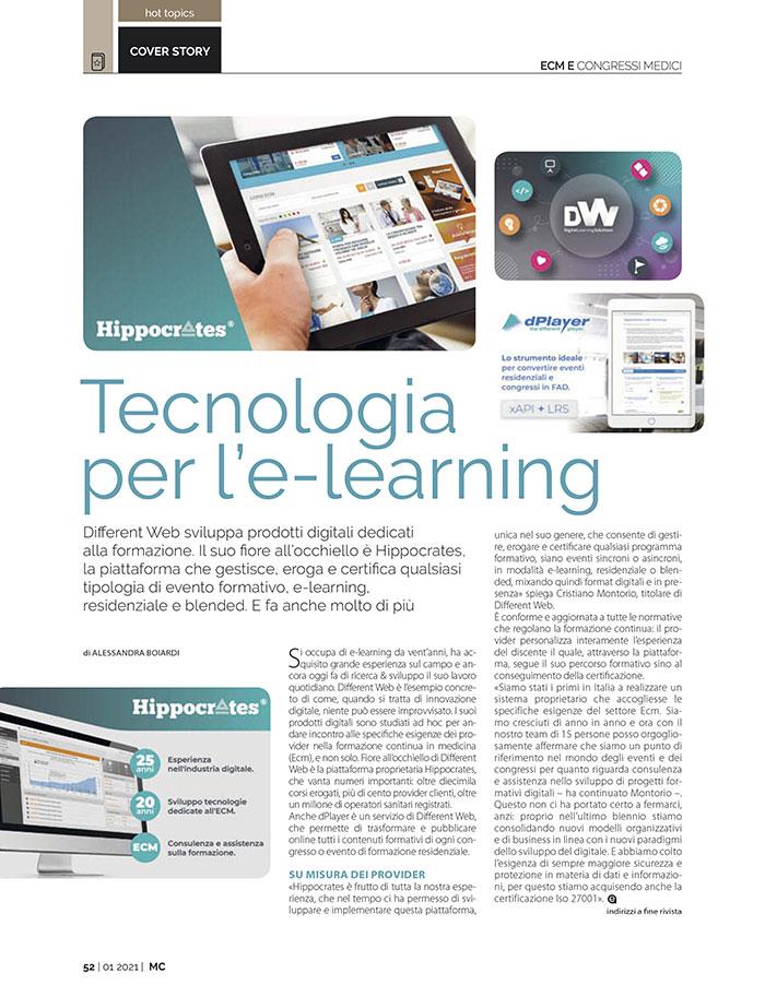Articolo: Tecnologia per l'e-learning
